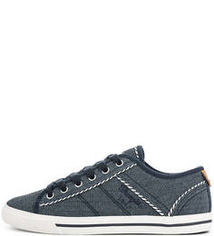Синие текстильные кеды Wrangler