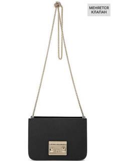 Кожаная основа сумки черного цвета Furla