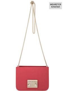 Кожаная основа сумки красного цвета Furla