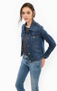 Синяя джинсовая куртка на болтах Wrangler