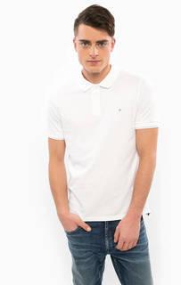 Футболка поло белого цвета Calvin Klein Jeans