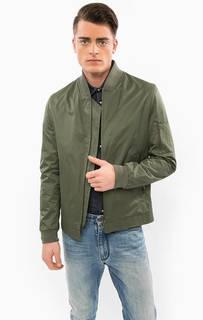 Легкая куртка цвета хаки на молнии Drykorn