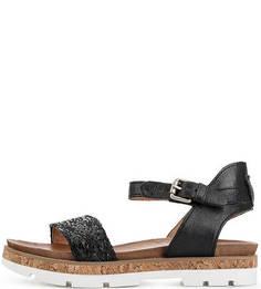 Кожаные сандалии с плетеными ремешками Mjus
