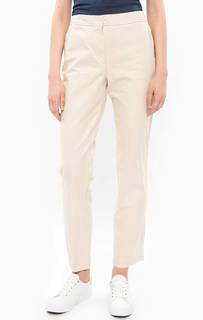Бежевые брюки чиносы из хлопка Lacoste