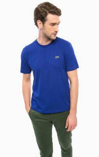 Синяя футболка с короткими рукавами Lacoste