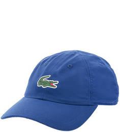 Синяя бейсболка с логотипом бренда Lacoste