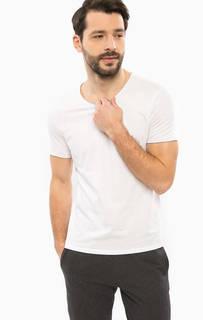 Белая хлопковая футболка Mavi
