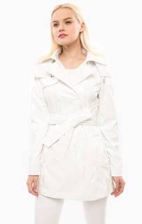 Белый плащ со съемным капюшоном Trussardi Jeans