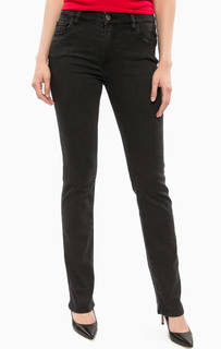 Черные джинсы с клеевым декором Trussardi Jeans