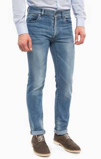 Синие джинсы с высокой посадкой Trussardi Jeans
