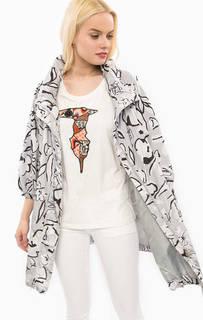 Серый плащ с цветочным принтом Trussardi Jeans