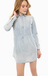 Платье из хлопка с отложным воротником D&S Ralph Lauren