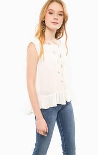 Блуза свободного кроя молочного цвета D&S Ralph Lauren