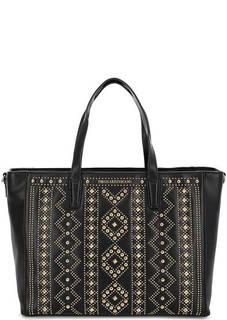 Черная сумка с металлическим декором Trussardi Jeans