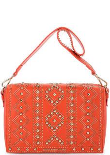 Оранжевая сумка с откидным клапаном Trussardi Jeans