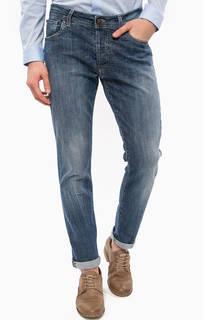 Синие зауженные джинсы с застежками на болты Liu Jo Uomo