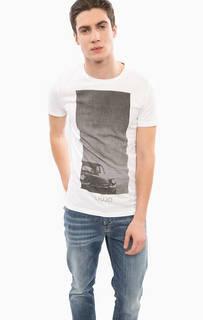 Хлопковая футболка с короткими рукавами Liu Jo Uomo