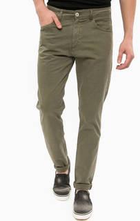 Зауженные брюки из хлопка цвета хаки Liu Jo Uomo