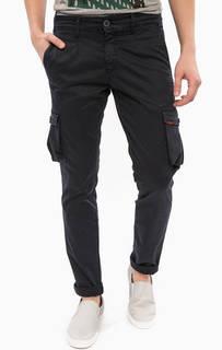 Хлопковые брюки карго синего цвета Liu Jo Uomo