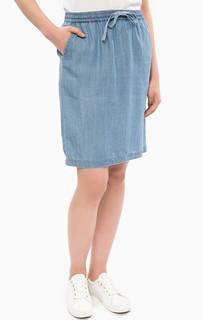 Синяя джинсовая юбка Gant