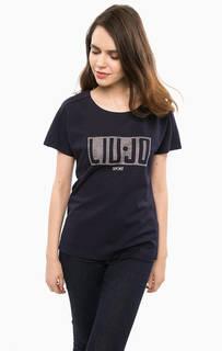 Плотная футболка синего цвета Liu Jo Sport