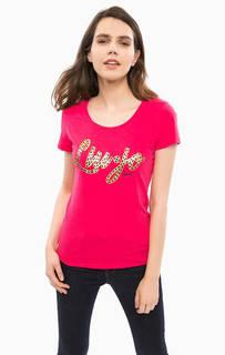 Хлопковая футболка с короткими рукавами Liu Jo Sport