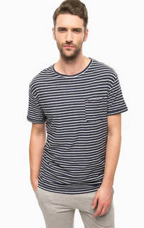 Синяя футболка с карманом Hilfiger Denim