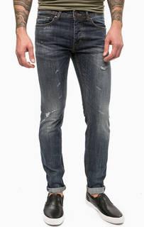 Синие джинсы с потертостями Gaudi