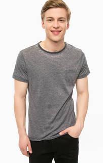 Синяя футболка в полоску Blend