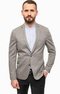 Серый пиджак с накладными карманами Lerros