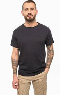 Однотонная хлопковая футболка Lerros