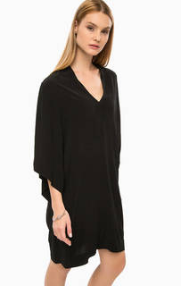 Короткое черное платье свободного кроя Drykorn