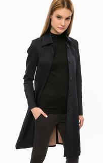 Классическое приталенное пальто синего цвета Drykorn