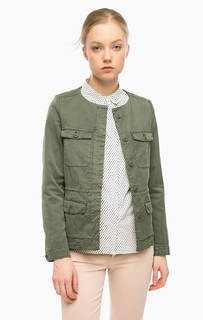 Темно-зеленая хлопковая куртка Marc Opolo