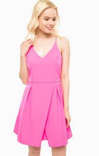 Платье цвета фуксии на тонких бретелях Kocca