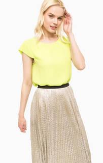Салатовая трикотажная блуза Kocca