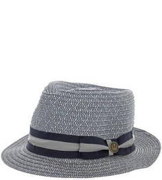Плетеная шляпа с широкой синей лентой Goorin Bros.