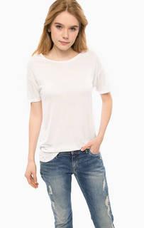 Белая футболка из вискозы Alcott