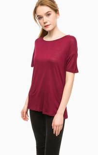 Бордовая футболка из вискозы Alcott
