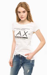 Белая футболка с удлиненной спинкой Alcott