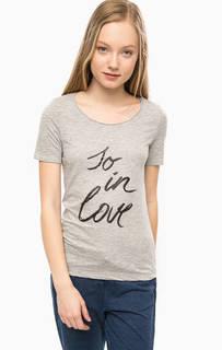 Серая футболка с короткими рукавами S.Oliver