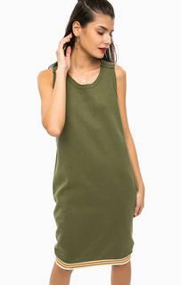 Платье цвета хаки без рукавов Scotch&Soda