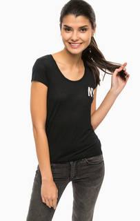 Черная футболка с нагрудным карманом Alcott