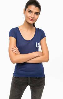 Синяя футболка с нагрудным карманом Alcott