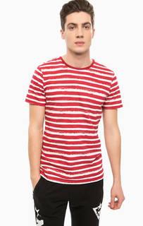Хлопковая футболка в полоску Alcott