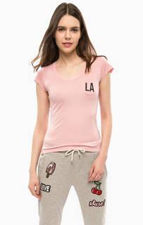 Розовая футболка с нагрудным карманом Alcott