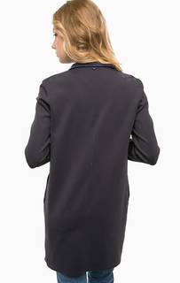 Темно-синее пальто на кнопках Rich&Royal