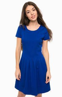 Приталенное платье синего цвета Armani Jeans