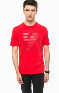 Красная хлопковая футболка Armani Jeans