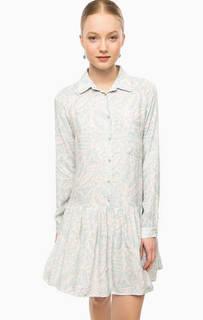 Платье с длинными рукавами и застежкой на пуговицы Think Chic